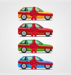 car gift color set template design element vector image vector image