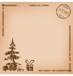 old vintage postcard - for christmas vector image
