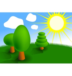 picture of three trees vector image