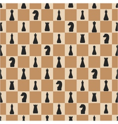 seamless pattern of chess on chessboard vector image