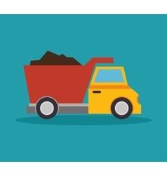 tipper truck construction icon design vector image