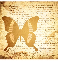Vintage Background With Butterfly vector image vector image