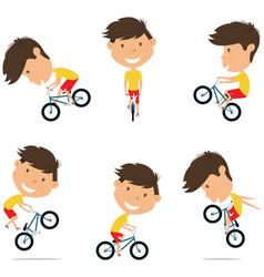 Bmx bike rider boy bicycle activity cycling vector