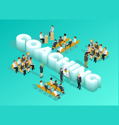 Business Education Isometric Template vector image vector image