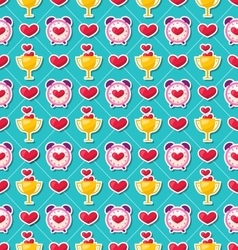 Colorful Seamless Pattern for Valentines Day vector image