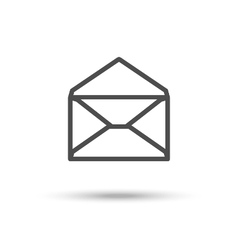 Opened envelope icon Mail icon vector image vector image