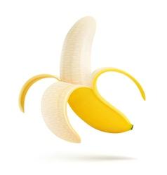 peeled banana vector image vector image