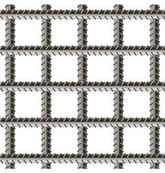 Rebars Reinforcement Steel vector image vector image