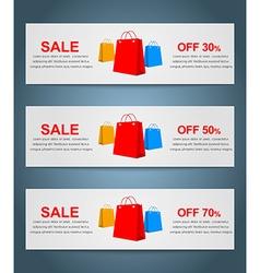 Set coupon banner vector image