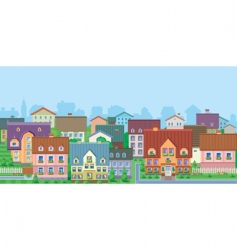townhouses vector image vector image