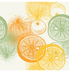 Wallpaper seamless pattern with oranges citrus vector image vector image