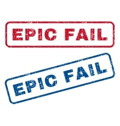 Epic Fail Rubber Stamps vector image