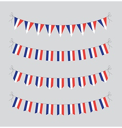 french bunting vector image vector image