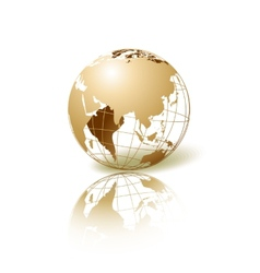 Golden Globe vector image