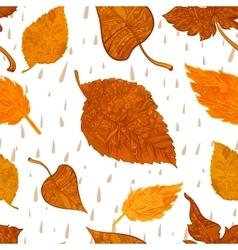 seamless background autumn foliage vector image