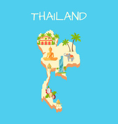 thailand island isolated on azure background vector image vector image