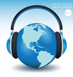 world music concept vector image vector image