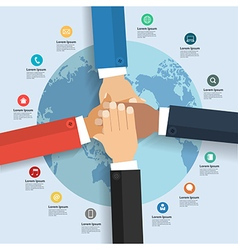 Business team showing unity global business vector image vector image