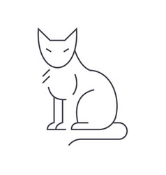 cat line icon sign on vector image vector image