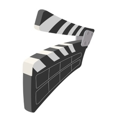 Clapperboard cinema cartoon icon vector image vector image