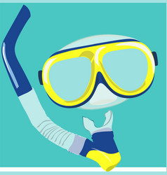 dive mask and snorkel for professionals vector image