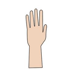 hand people part fingers open up vector image