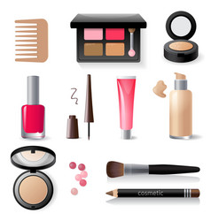 make-up icon set vector image