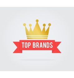 Top brand card tag vector image