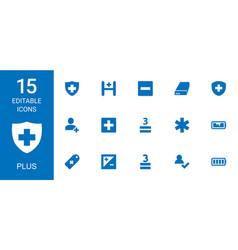 15 plus icons vector