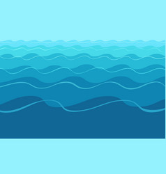 Abstract blue wavy water background vector