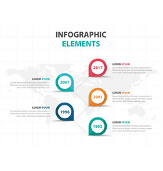 abstract colorful business timeline infographics vector image