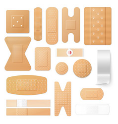 adhesive plasters and patches isolated vector image