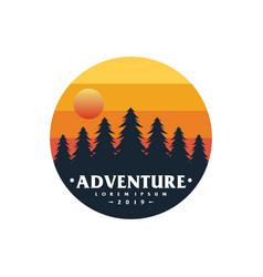 adventure mountain logo vector image