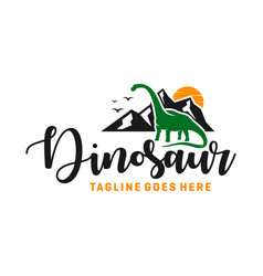 Ancient animal dinosaur logo vector