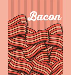 Bacon portions menu restaurant poster vector