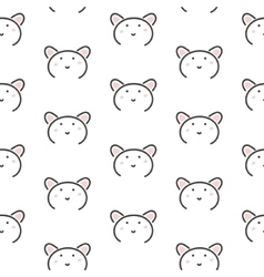 Bear stylized line fun seamless pattern for kids vector