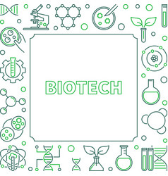 biotech concept square outline frame or vector image