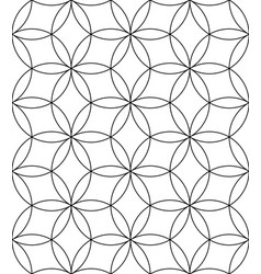 black and white seamless linear pattern geometric vector image