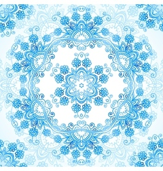 Blue ornate lacy seamless pattern vector image