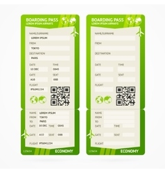 Boarding Pass Ticket Set vector image