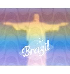 Brazil monument tourism concept vector