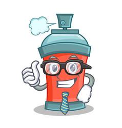 Businessman aerosol spray can character cartoon vector