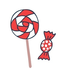 Cake candy pops icons vector