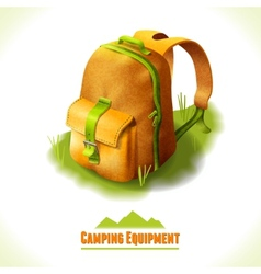 Camping symbol backpack vector image