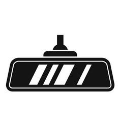 Car indoor mirror icon simple style vector