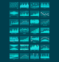 chart graphs mobile background vector image