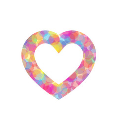 Colorful heart outline of vector