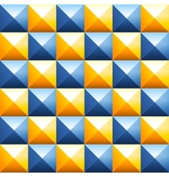 Colorful pyramids seamless pattern vector