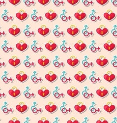 Colorful seamless pattern for valentines day vector