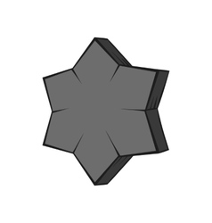 Convex star icon black monochrome style vector